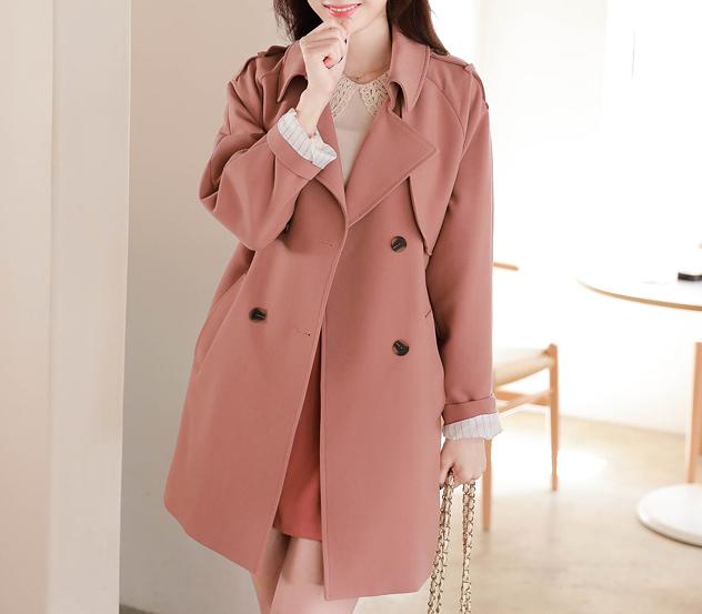 myfiona-언발플랩*trench coat/m9004 - 러블리 로맨틱룩 1위 쇼핑몰 피오나♡韓國女裝外套