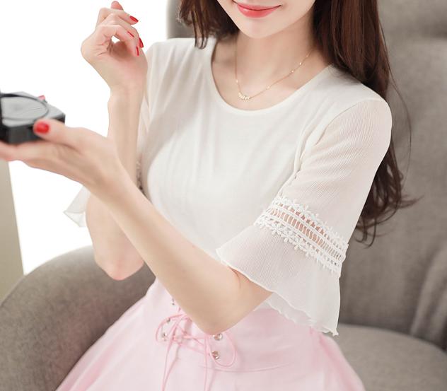 myfiona-레이스브릿지*tee/m8672 - 로맨틱 러블리 피오나♡韓國女裝上衣