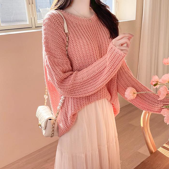 myfiona-여리라운드 루즈핏 하찌니트 a1193 - 러블리 로맨틱룩 1위 쇼핑몰 피오나♡韓國女裝上衣