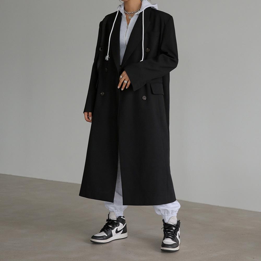 blackup-넌버 베이직 롱자켓♡韓國女裝外套
