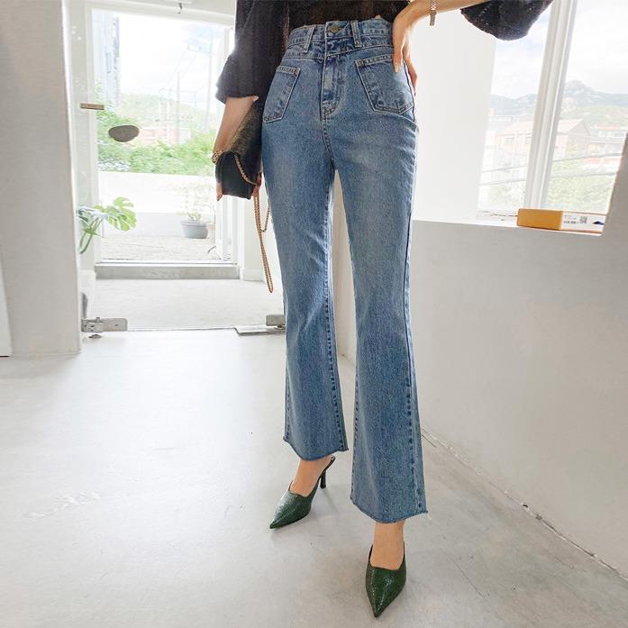 dabagirl-머르엔포켓부츠컷(805)♡韓國女裝褲