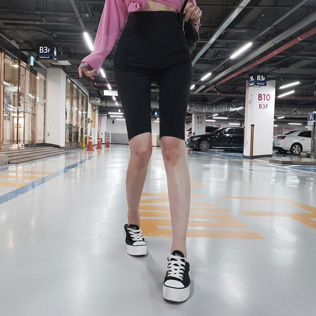 iampretty-[[3805]하이웨이 슬림 5부 레깅스]♡韓國女裝褲