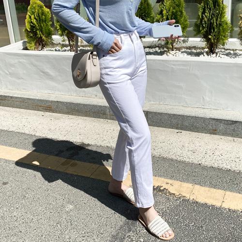 minibbong-브릿 썸머코튼 슬림일자팬츠♡韓國女裝褲