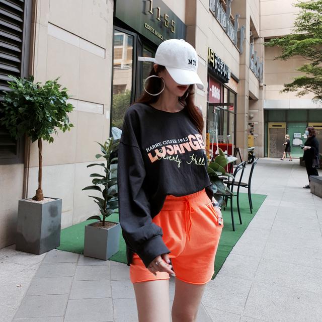 iampretty-[[9545]레터링 배색 트레이닝 세트]♡韓國女裝套裝