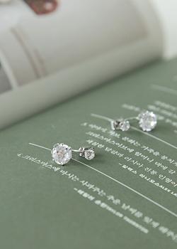 joamom-[큐빅 드롭 귀걸이 JA04565]♡韓國女裝飾品