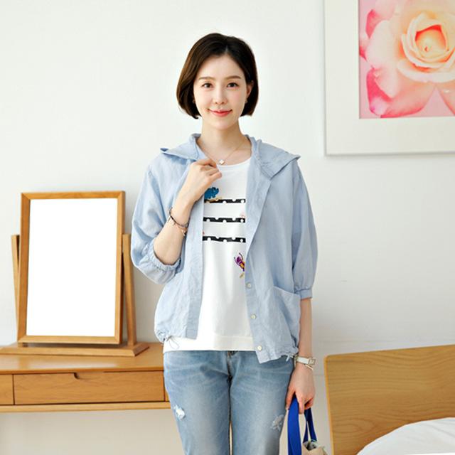 tiramisu-90스카이후드린넨점퍼♡韓國女裝外套