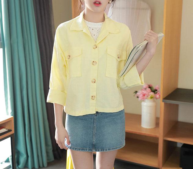 myfiona-미니멀코튼*jacket/a0232♡韓國女裝外套