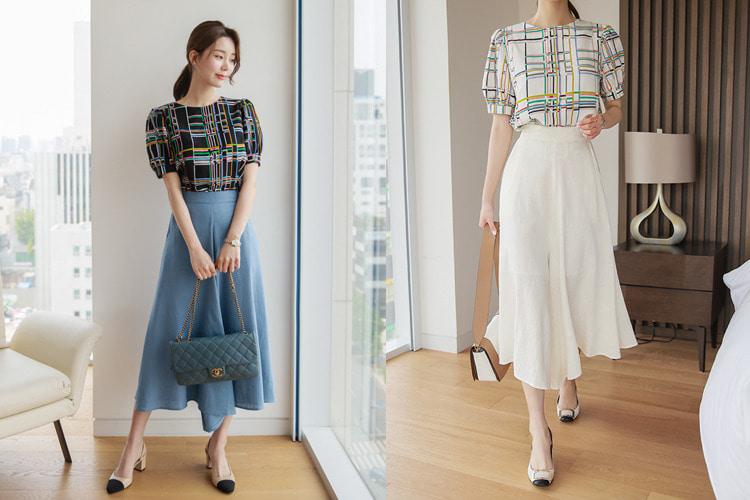 loveparis-[후기328개]로지 린넨 밴딩 와이드팬츠(2color) 아이보리,파스텔블루♡韓國女裝褲