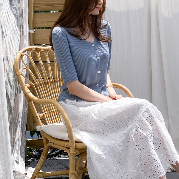 misscandy-[no.18972 Y넥 세로골지 썸머가디건]♡韓國女裝外套