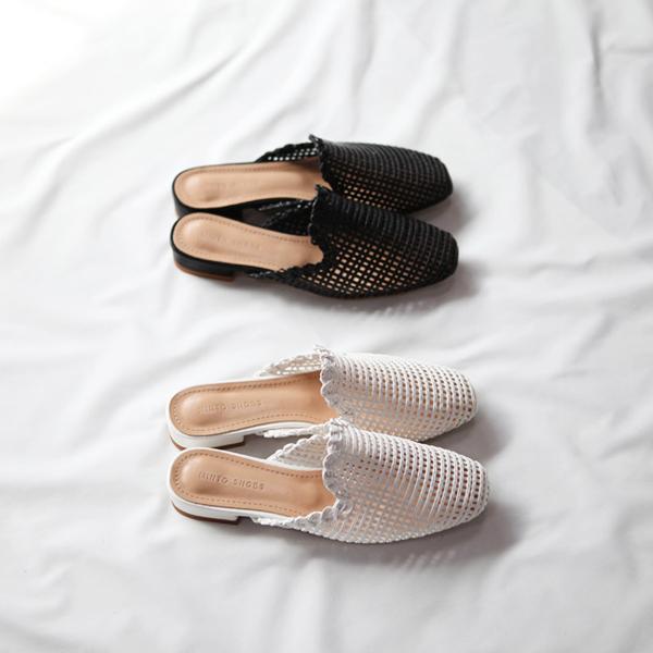 hello-sister-[부클레[라탄 블로퍼]]♡韓國女裝鞋