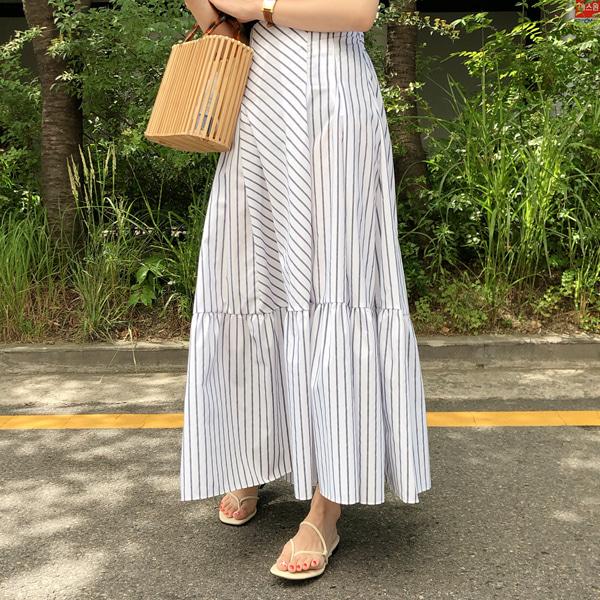 fine-thankyou-맥시스트라이프스커트_2color♡韓國女裝裙