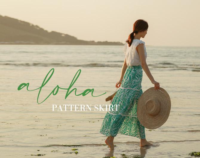chichera-시크헤라 [알로하나염롱스커트]♡韓國女裝裙