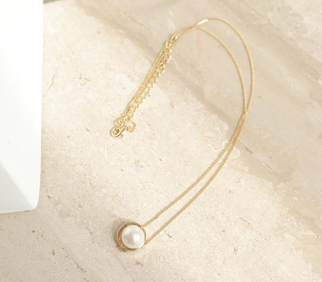 myfiona-골드로안은진주*necklace/ac2538♡韓國女裝飾品