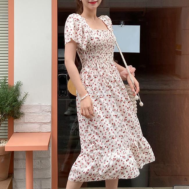 cherryville-[슈가플라워 롱원피스]♡韓國女裝連身裙
