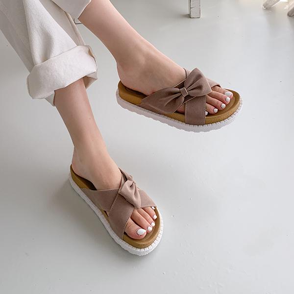 canmart-[리본통굽슬리퍼 C062915]♡韓國女裝鞋