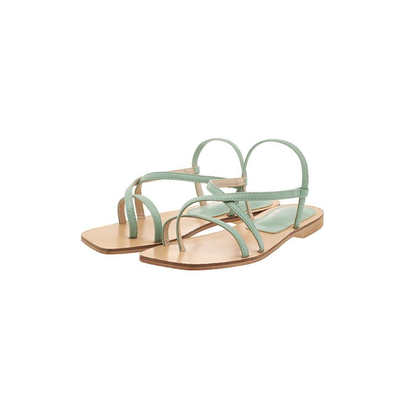 attrangs-sh1876 스페셜한 포인트룩을 선사해줄 스퀘어 쉐입의 쪼리 스트랩 샌들 shoes♡韓國女裝鞋