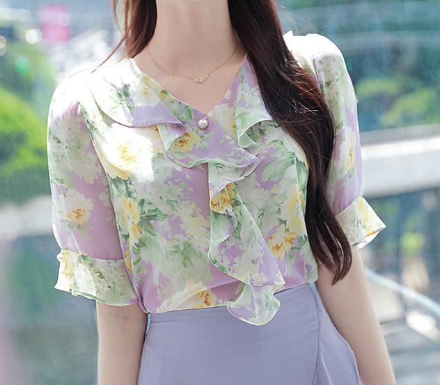 myfiona-꽃의흐름*blouse/a0508♡韓國女裝上衣