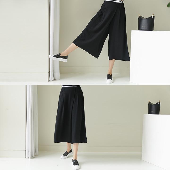 lemite-리얼편해 7부치마바지(린넨40%)♡韓國女裝褲