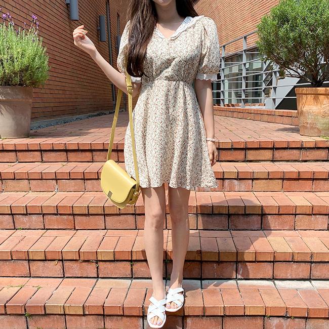 cherryville-[레이스펀칭플라워 원피스]♡韓國女裝連身裙