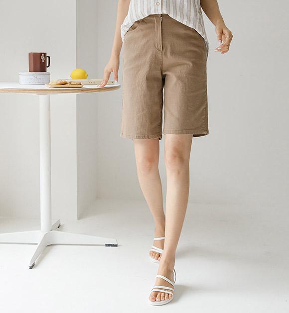 justone-토빌 뒷밴딩 캐쥬얼 면스판팬츠♡韓國女裝褲