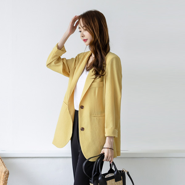 misscandy-[no.19069 테일러드카라 싱글 썸머자켓]♡韓國女裝外套