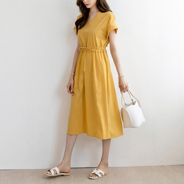 misscandy-[no.18941 브이넥 허리스트링 루즈핏원피스]♡韓國女裝連身裙