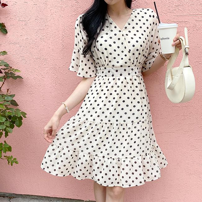cherryville-[도트와함께 원피스]♡韓國女裝連身裙