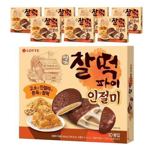 Lotte 黃豆粉味朱古力年榚 1盒10個裝