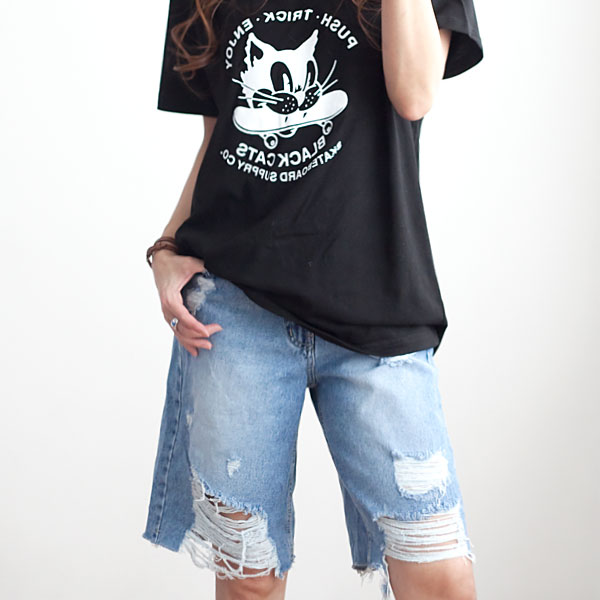 missylook-[뒷밴드 청반바지 F845]♡韓國女裝褲