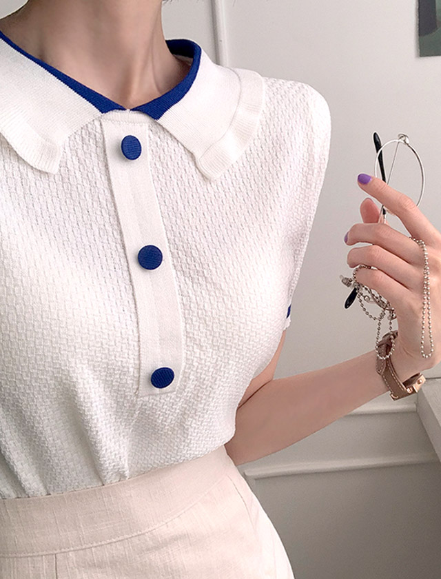 babirolen-[샌드 카라 -knit]♡韓國女裝上衣