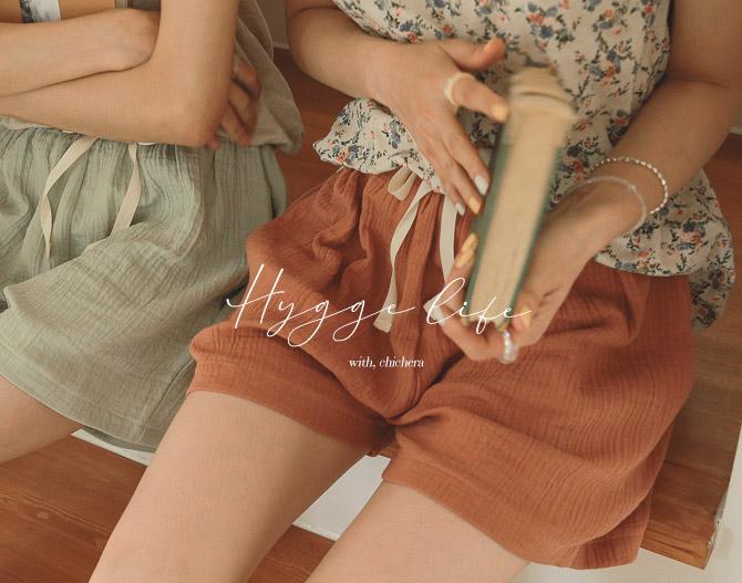chichera-시크헤라 [휘게_버블코튼밴딩팬츠]♡韓國女裝褲