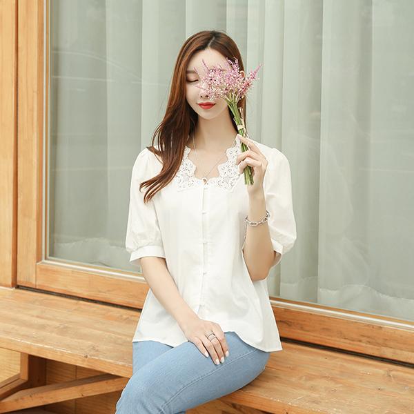 canmart-[레이스앤블라우스 C062923]♡韓國女裝上衣