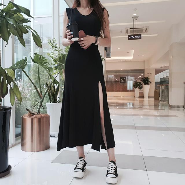 iampretty-[[4380]다리미인 트임 롱원피스]♡韓國女裝連身裙