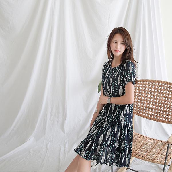 canmart-[리프나염원피스 C071633]♡韓國女裝連身裙