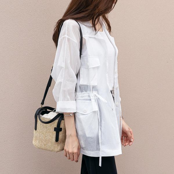 misscandy-[no.19077 플랩포켓 루즈핏 썸머자켓]♡韓國女裝外套