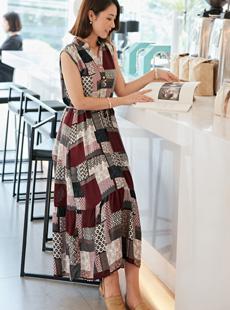 tiramisu-OP1084/조각나염원피스(반팔버전)♡韓國女裝連身裙