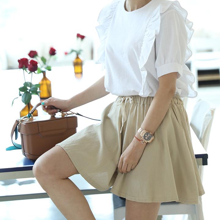 lemite-베이폴 치마바지(1+1)♡韓國女裝褲