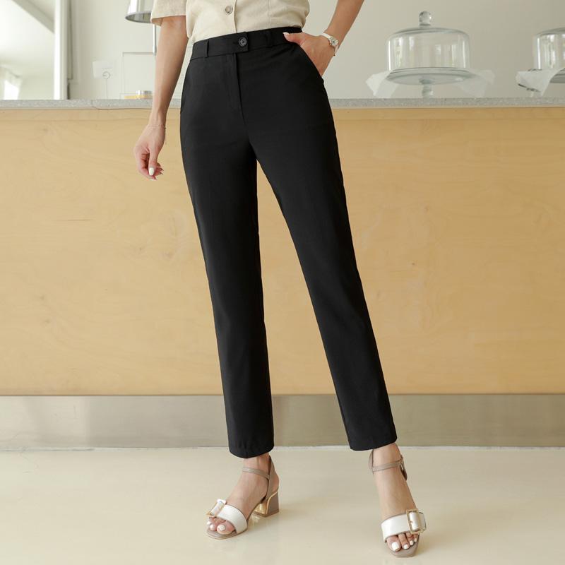 clicknfunny-[쿨한혁명 일자슬랙스[S,M,L사이즈]]♡韓國女裝褲