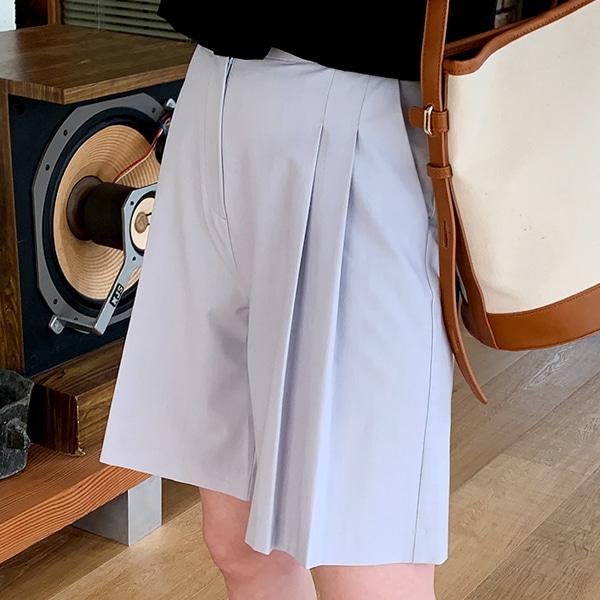 66girls-모던핀턱버뮤다SL (스판5%)♡韓國女裝褲