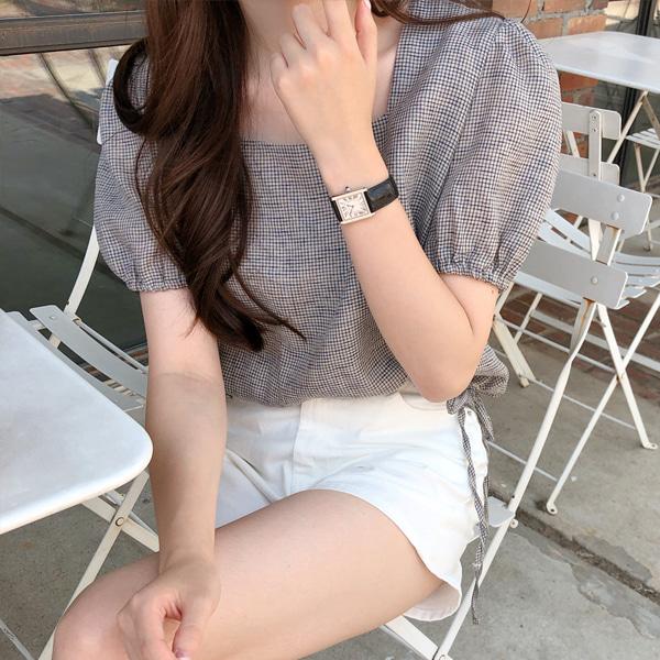 fine-thankyou-코즈체크블라우스_2color♡韓國女裝上衣