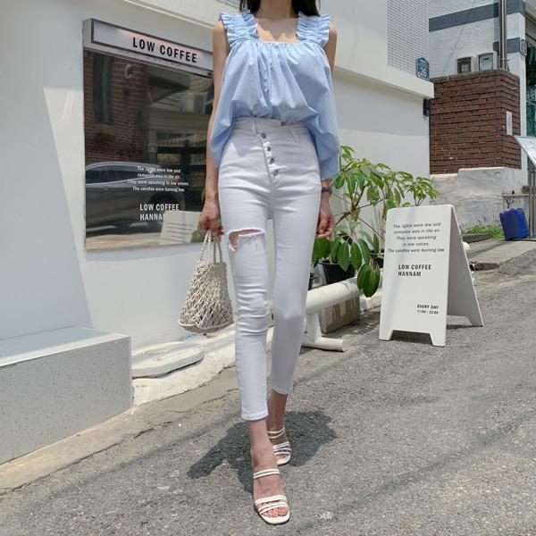 planj-섹시백사선스키니♡韓國女裝褲