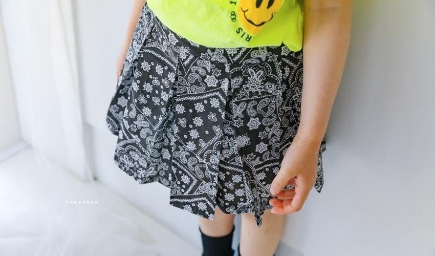 lovely2min-허니비 페이즐리치마 바지 (아동복) - lovely2min♡韓國童裝褲