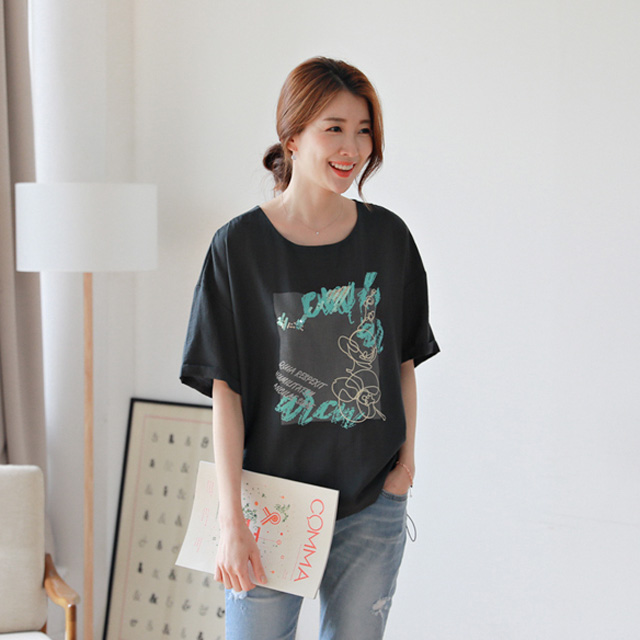 tiramisu-0717데미안스팽글나염블라우스♡韓國女裝上衣