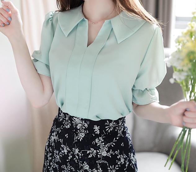 myfiona-페미닌카라*blouse/a0532♡韓國女裝上衣