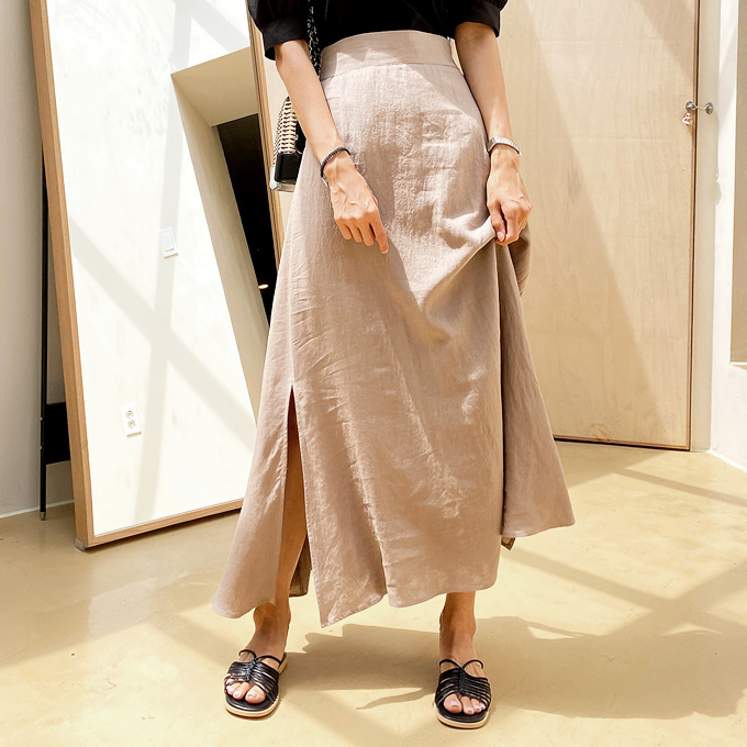 wingsmall-이르베니(린넨훌트임밴딩SK)♡韓國女裝裙