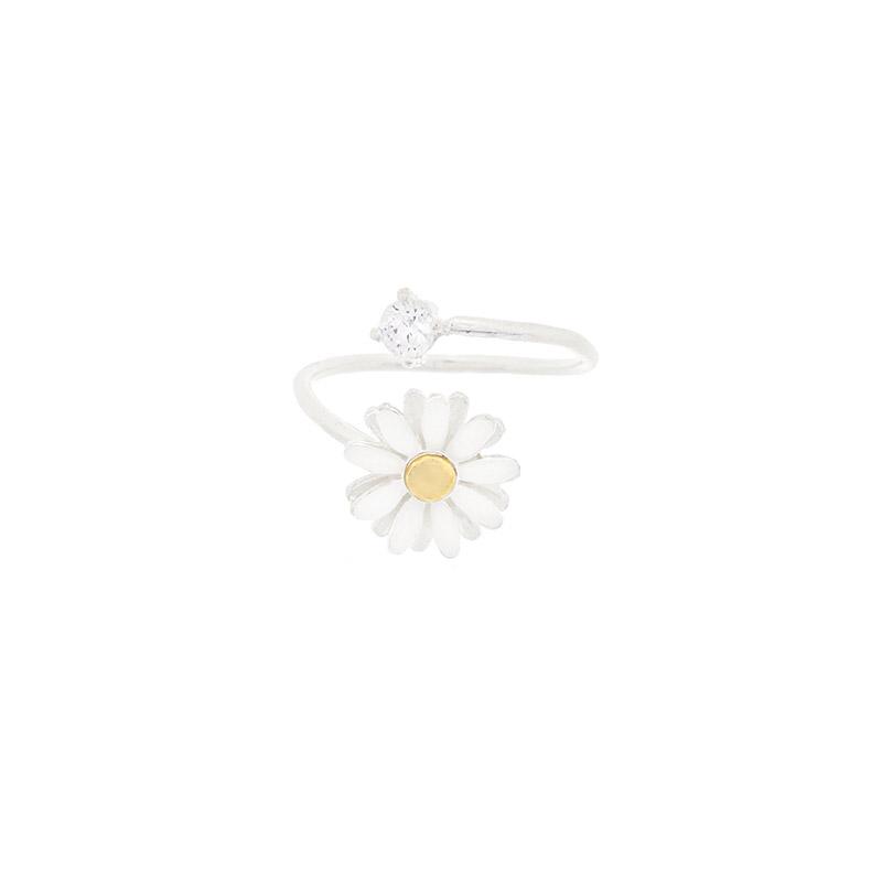 attrangs-ac4517 사이즈 조절이 가능한 데이지 플라워 큐빅 포인트 링 ring♡韓國女裝飾品