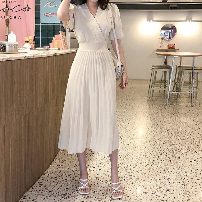 cherryville-[밀크플리츠 원피스]♡韓國女裝連身裙