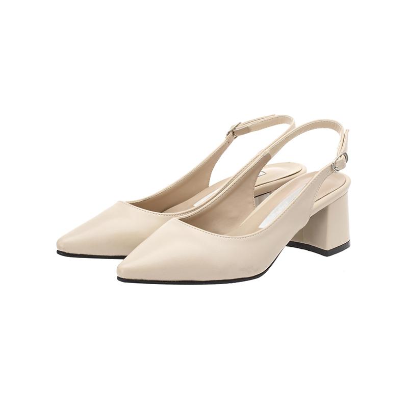attrangs-sh1332 깔끔 베이직 디자인의 슬림코 미들힐 슬링백 슈즈 shoes♡韓國女裝鞋