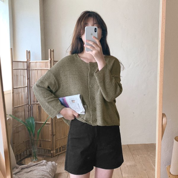 laurenhi-네티 부클 라운드 가디건 - 4 color        ♡韓國女裝外套