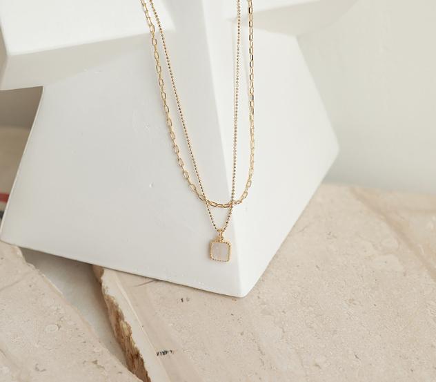myfiona-스톤주얼체인*necklace/ac2539♡韓國女裝飾品